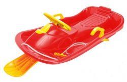 Bob plastový s volantem, červený