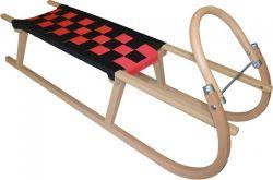 Dřevěné saně SULOV TATRA, 120cm, černo-červené